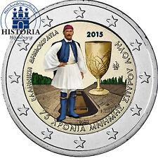 Grecia 2 euros conmemorativa 2015 BFR. Spyridon Louis en color