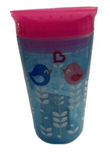 munchkin 360 Miracle Cup Baby Toddler 12+ months 9 oz Love Birds Blue