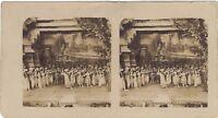 I Funerale di Un Rajah Théâtre Francia Foto Stereo Vintage Analogica