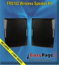 BRG EasyPage Wireless FRS Band Paging Speaker Kit - 2 Spkrs & Free 2 Way Radio