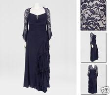 NEW!  Zaftique GRAND BALLROOM Dress NAVY Blue (L:ast One!) 2Z / 20 22 / 2X