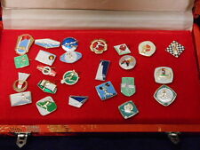 All China Sports Federation Pins Collection in Original Case Cycling Ping Pong