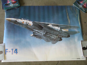 FIGHTER PLANE POSTER F-14 Fighter Jet Navy Military Airplanes Jets Air Force