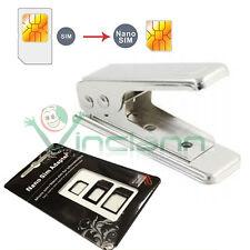 Nanosim cutter+3 adattatori iPhone SE 5 5C 5S nano sim taglia scheda taglierino