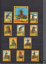 Série étiquettes allumettes Hollande Moulins série 4