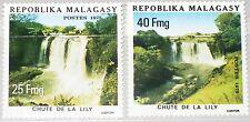 MADAGASCAR MALAGASY 1975 763-64 536-37 Lily Waterfall Wasserfall Views MNH
