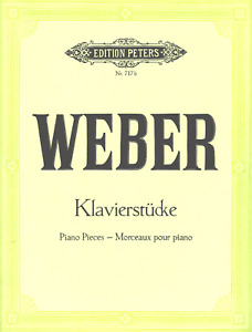 WEBER Klavierstücke u. Variationen Edition Peters Nr. 717b - mod. Antiquariat