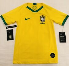 Nike Brazil Soccer Jersey National Team Brasil Yellow 893970-749 YOUTH Medium