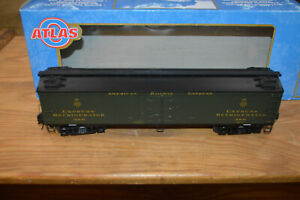 "Atlas O Gauge 3 Rail 3001001-4 American Railway Exp 53'6"" Wood Reefer #1456 NIB"
