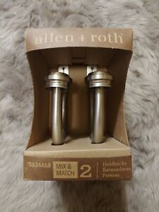 Allen + Roth Brushed Nickel 2-pack Steel Curtain Holdbacks 0634468 Hardware NIB
