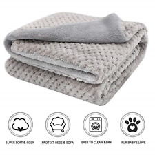 Premium Fluffy Fleece Dog Blanket, Soft and Warm Pet Throw for Dogs & Cats