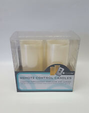 LED Echtwachs-Kerzen mit Fernbedienung und Realistischem Flackereffekt