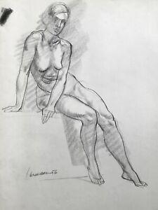 Harry Carmean drawing of female model 1956
