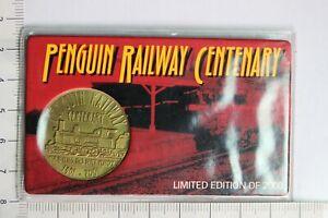 Penguin Railway Centenary 2001 Tasmania Medal on Card of Issue (AB22524/M3)