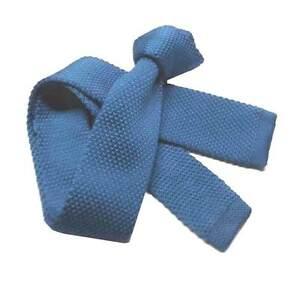 CRAVATTA celeste royal uomo Maglia TRICOT tinta unita cravatte celeste acceso