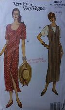 UNCUT Very Easy Vogue 8581 Misses Straight Jumper, Dress, Top, sizes 8 10 12