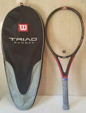 Wilson Triad 5.0 Racquet Hammer Technology 4 3/8 Grip Includes Wilson Triad Bag