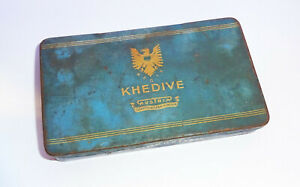 Alte Blechdose Khedive Austria Zigarettenfabrik München Box Zigarettendose 1930