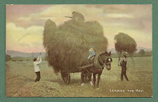 """C1910'S P/C """"LEADING THE HAY"""" FREE WITH THE WEEKLY TALE-TELLER   HORSE AND CART"""