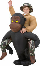 Morris Costumes Boy's Riding Gorilla Inflatable Headcover Costume. SS29060G