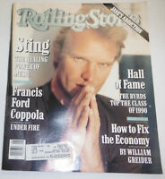 Rolling Stone Magazine Sting & Francis Ford February 1991 090314R