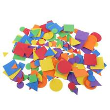 200 Pcs Geometric Shaped Stickers for DIY Craft Foam Stickers Random Colors