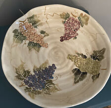 Large Pasta Serving Bowl Cabernet Tabletops Unlimited Grapes 14""
