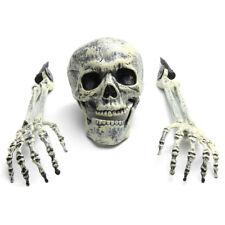 3 Piece Halloween Horror Buried Alive Skeleton Skull Arms Garden Yard Lawn Decor