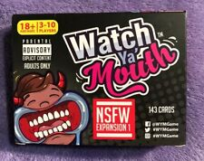 Watch Ya' Mouth NSFW Expansion 1 Card Game- Adults Only, New In Open Box