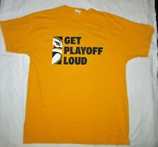 Nashville Predators XL gold t-SHIRT Smashville Get Playoff Loud NHL game promo