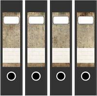 4 Ordner Etiketten Rücken-schilder selbstklebend Aktenrücken kurz breit Neu 7