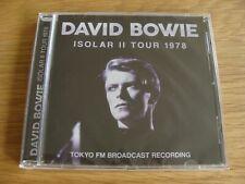 CD Album: David Bowie Isolar II Tour 1978 : Live Tokyo FM Broadcast : Sealed