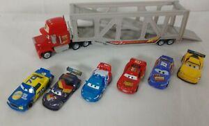 Disney Pixar Cars - Mack Hauler Car Carrier Truck- w/ Sounds & 6 Vehicles (2006)