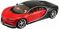 MAISTO 1:18 Scale - Bugatti Chiron - Red and Black - Diecast Model Car