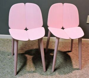 Authentic Osso chairs (pair) in pink, from Mattiazzi