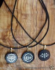 3 Baha'i jewelry Obsidian stone necklaces Bahai gift from Haifa