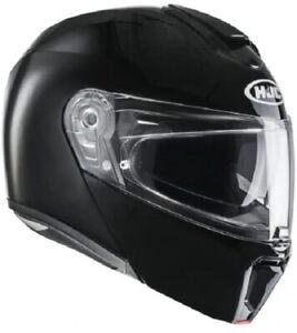 Casco Moto Modular Hcj rpha90 Manillar Mat Noir / Flat Black L Negro Mate Fibra