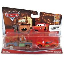 Disney Pixar Cars Mater  And Lightning McQueen No Tires Vehicles 2 Pack Toy