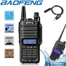 Baofeng IP67 Waterproof Walkie Talkies Long Range Two Way Radio + Program Cable