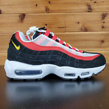 Nike Air Max 95 Essential Shoes White Black Yellow Red AT9865-101 Multiple Sizes