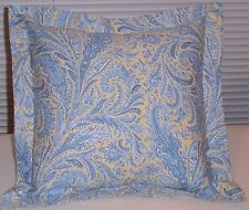 "RALPH LAUREN BLUE & YELLOW PAISLEY SHAM FOR PILLOW 16"" X 16"""