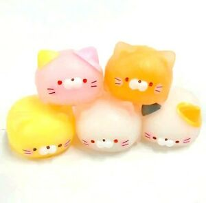 Phone Squishy Mochi Fat Cat Pink Pastel Japanese  1 Random Slime Squeeze Toy