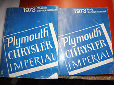 1973 PLYMOUTH FURY SATELLITE BARRACUDA DUSTER CHRYSLER FACTORY SERVICE MANUALS