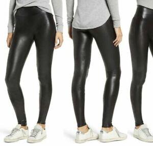 Spanx Faux Leather Leggings for Women 2437Q Size XL