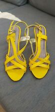 🔥🔥 BRAND NEW 🔥 NEXT Strappy Yellow Slingback Sandals UK5.5 🔥🔥🔥