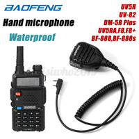 Wasserdichtes BaoFeng Walkie Talkie Handmikrofon für UV5R UV-82 DM-5R BF-888 ~