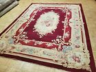 8x10 CHINESE RUG VINTAGE AUBUSSON AUTHENTIC 100% WOOL ORIENTAL RUG FINE