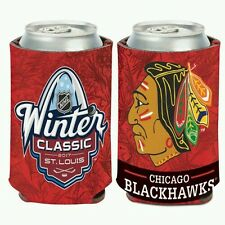 CHICAGO BLACKHAWKS WINTER CLASSIC 2017 NEOPRENE CAN BOTTLE COOZIE KOOZIE COOLER