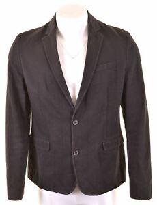 C'N'C Mens 2 Button Blazer Jacket Size 38 Medium Black LJ02