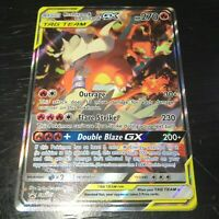 POKEMON RESHIRAM & CHARIZARD GX SM201 - FULL ART HOLO ULTRA RARE PROMO CARD - NM